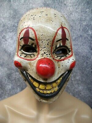 Killer Clown Mask (Creepy Clown Mask Hinged Jaw Haunted Big Top Prop Twisted Sideshow Killer)