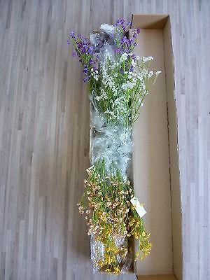 24 x Schleierkraut Mix 24tlg Seidenblumen weiß lila gelb orange 64 cm 39690 F13