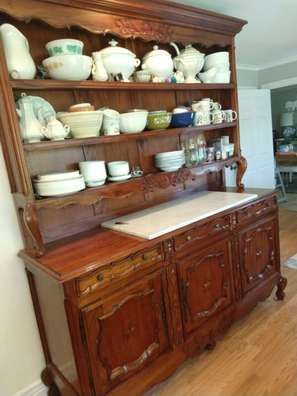 French Country Sideboard  Cabinet Hutch