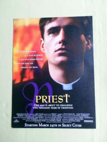 "1 PAGE FILM ADVERT- CLIPPING - "" PRIEST ""-  LINUS ROACHE"