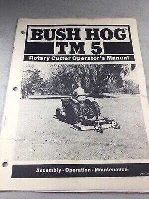 Bush Hog Tm5 Cutter Operators Owners Manual