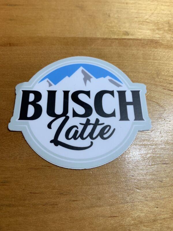 """(3) Busch Latte  Beer Stickers BUSCHHHHHH 3"""" x 2.7"""""""