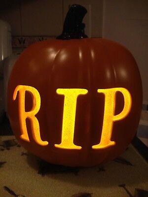 Light Up Pumpkins (Jumbo Halloween Jack O Lantern Pumpkin Light Up RIP Brand New Tags)