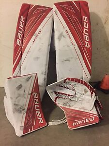 Bauer goalie pads glove blocker 35+1