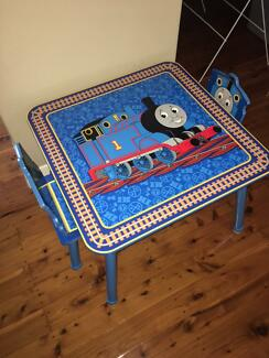 Thomas the Tank Engine Chairs and Table Kids Preschool Furniture