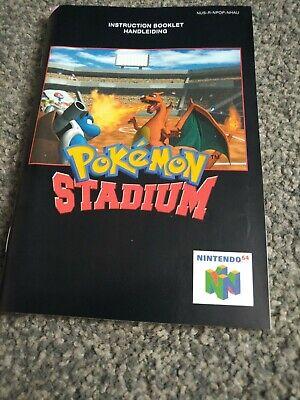 Pokemon Stadium Nintendo N64 Instruction Manual rare very good condition