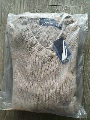 NAUTICA  Men's V-Neck Cashmere Sweater S,M,L