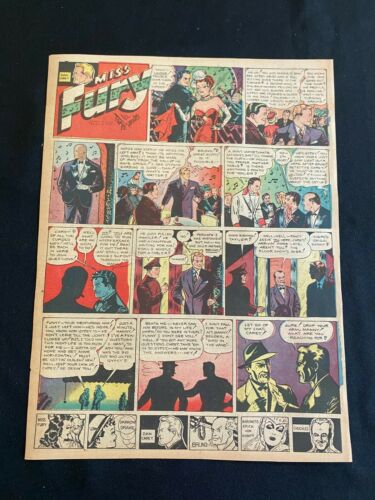 #01 MISS FURY by Tom Fanning Sunday Tabloid Full Page Strip June 5, 1949