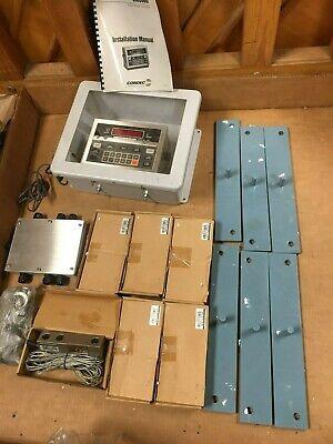 Condec Umc600 Scale Indicator 20000 X 10 Lb 6 Shear Beam Load Cells 10000 Lb