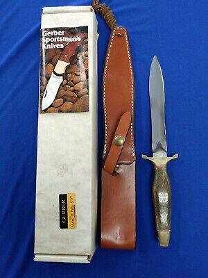 GERBER MARK II PRESENTATION KNIFE -CUSTOM COLLECTION -SERIAL # 001450