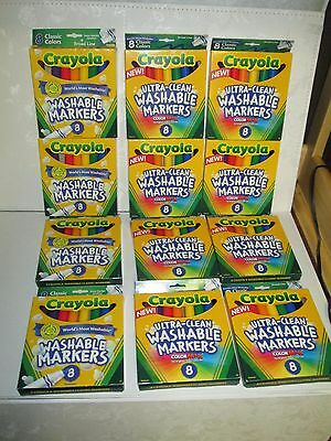 Crayola Washable Markers 8Ct Classic Colors Broad Line 58 7808