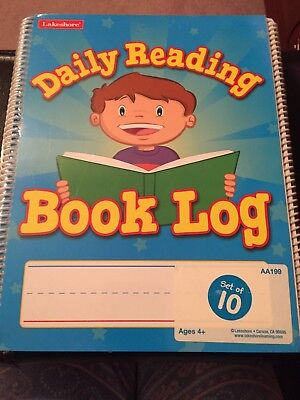 Lakeshore Daily Reading Book Log Package Of 10 BNIP Teacher Supplies Homeschool