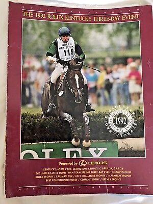 1992 ROLEX Kentucky THREE-DAY Event PROGRAM Eventing Equestrian Horse Show Vtg.