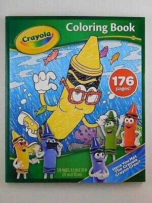 CRAYOLA Bluetiful Crayon Coloring Book - 176 Page Kid's Fun Coloring Book