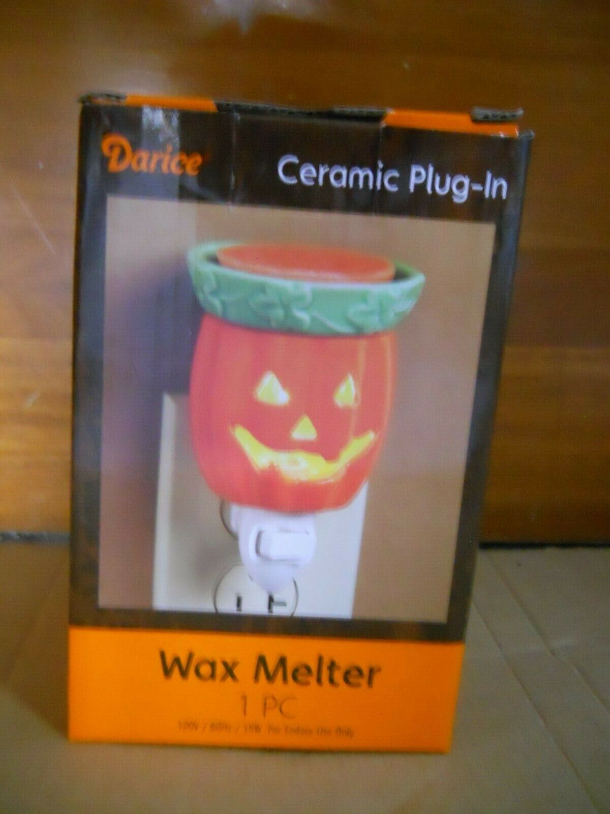 NIB Darice Jack O Lantern Electric Plug in Wax Melter Night