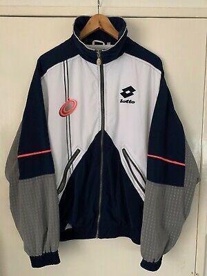 Vintage 90s Lotto Boris Becker Tennis ITALIANO Track Tracksuit Top Jacket M / L