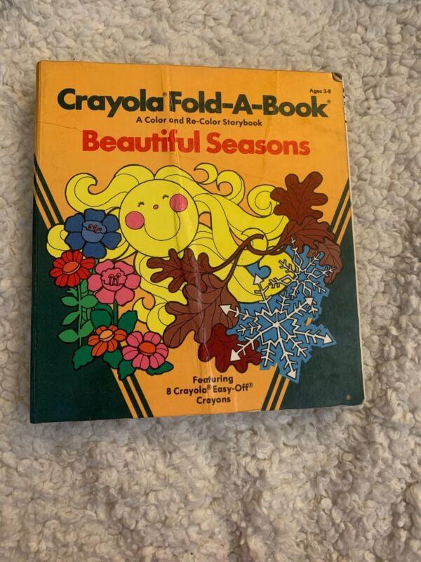 Crayola Fold-A-Book Color & Recolor Beautiful Seasons Vintage 1980 Binney Smith