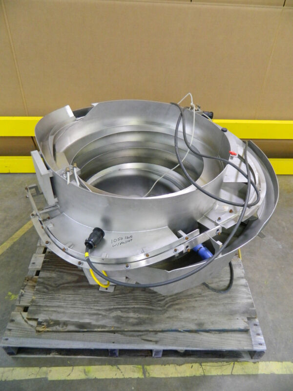 """No Name Stainless Steel S/s Vibratory Bowl Feeder 30"""" Wide 14"""" Depth W/ Controls"""