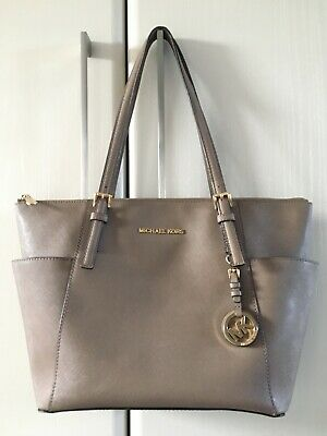Michael Kors Jet Set Travel Taupe Saffiano Leather Tote Bag~ Great Condition