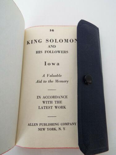 King Solomon And His Followers Iowa Masonic Temple 1951 Allen Pub Mason Bible