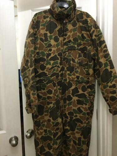 VTG Trophy Club Duck Coveralls Insulated Hunting Vintage Mens Large L Bodysuit
