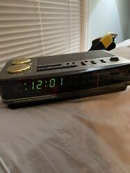 Vintage 1980s Panasonic RC-6180 Big Bell LED Digital 2 Alarm Clock Radio Tested