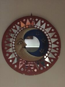 Mirror with moon and stars. Approx 1.5 ft diameter