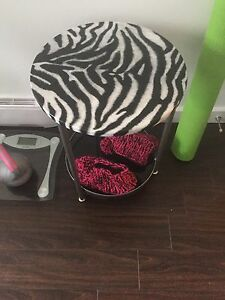Small zebra print table