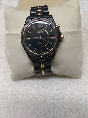 men's Seiko kinetic chronograph date watch 5M42-0P58 great condition nice