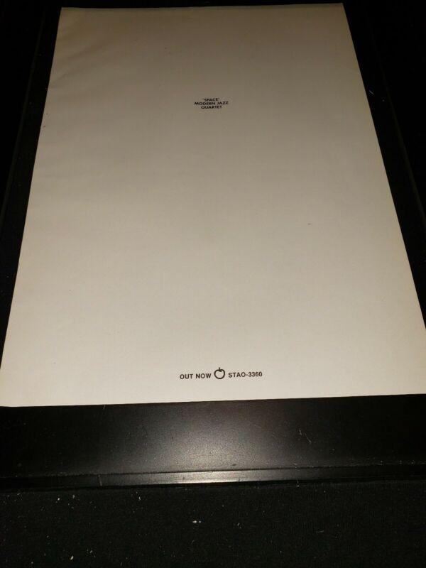 Modern Jazz Quartet Space Rare Original Apple Records Promo Poster Ad Framed