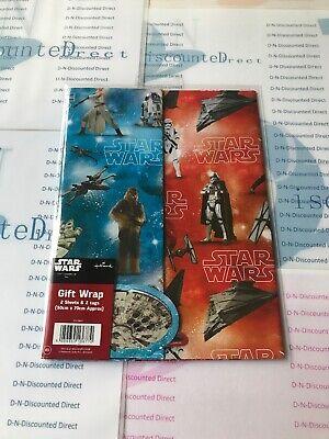 Star Wars Disney Hallmark Gift Wrap Set x2 Sheets & 2 Tags Star Wars Themed BN