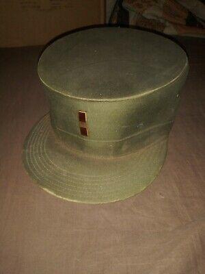 1950s Hats: Pillbox, Fascinator, Wedding, Sun Hats 1950s Military Hat $35.00 AT vintagedancer.com