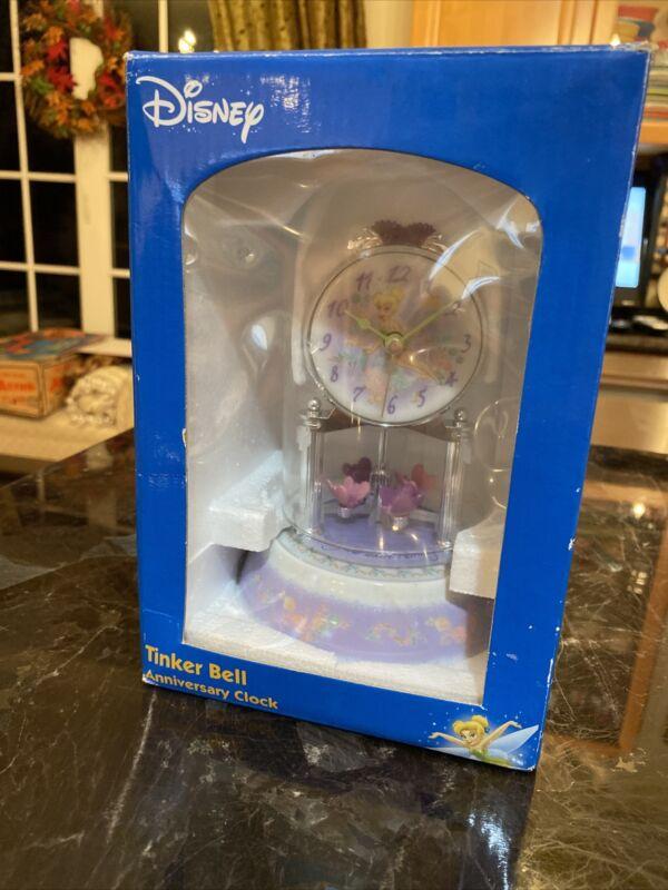 Disney Tinker Bell Anniversary Clock Butterfly Petals Glow Fairies MINT NRFB