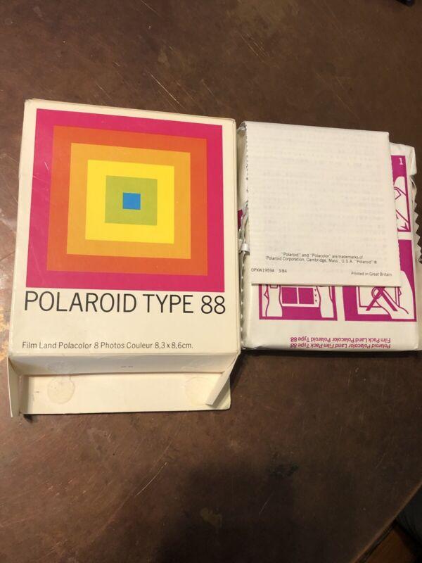 Polaroid Type 88 Polacolor Land Film 8 3 1/4 x 3 3/8 New Exp. 11/87 Not Sealed