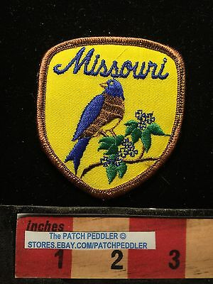 Brown Border Version Missouri STATE BIRD Patch EASTERN BLUEBIRD 63NN
