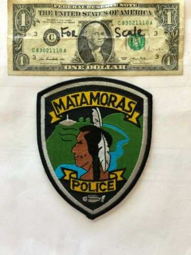 Matamoras Pennsylvania Police Patch (TWP) un-sewn in great shape