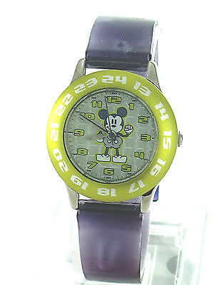 DISNEY WATCH Mickey Mouse Dial 5 pcs Lot Clear Jelly Strap Analog MU0359