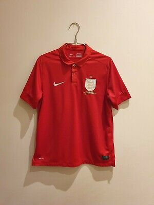 Youth England away football Shirt 150 Year Anniversary 2013 Size XL Rare nike