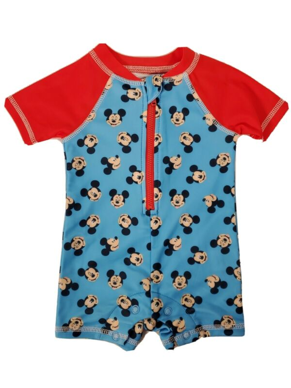 Mickey Mouse Infant Sun Protection Romper UPF 50+ Wearable Sunblock 0-3 Mo NEW