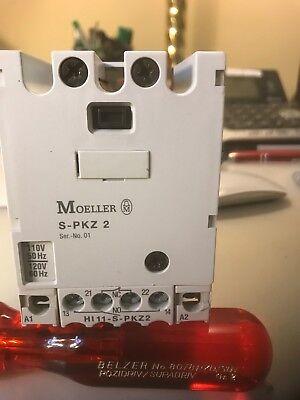 S-pkz2. 110-120v.  Moeller  Contactor