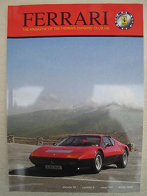 Ferrari Owners Club Magazine issue 160 vol 40 no 4 Winter 2008 VGC