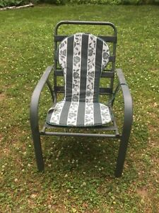 Metal patio chairs with cushions x 4 - make offer