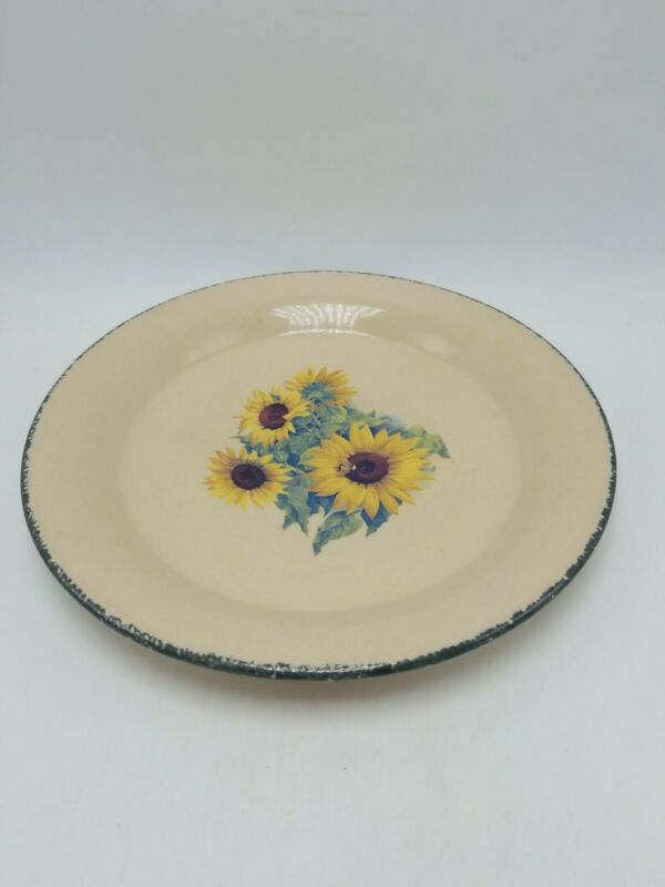 "Home and Garden Party ""Sunflower"" Dinner Plate -"