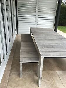 Outdoor Table plus two benches plus eight as new cushions Seaforth Manly Area Preview