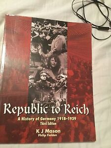 Republic to Reich a history of Germany 1918 - 1939 Wanneroo Wanneroo Area Preview