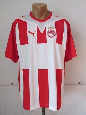 OLYMPIACOS FC 2009/2010 HOME FOOTBALL SHIRT SOCCER JERSEY CAMISETA PUMA GREECE L image
