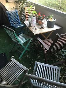 Outdoor Wooden Table and Chairs Set Alexandria Inner Sydney Preview