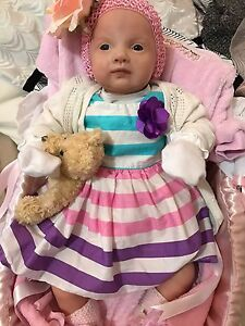 SOLD Ping Lau Reborn Baby Doll Vinyl Lifelike Baby Docklands Melbourne City Preview