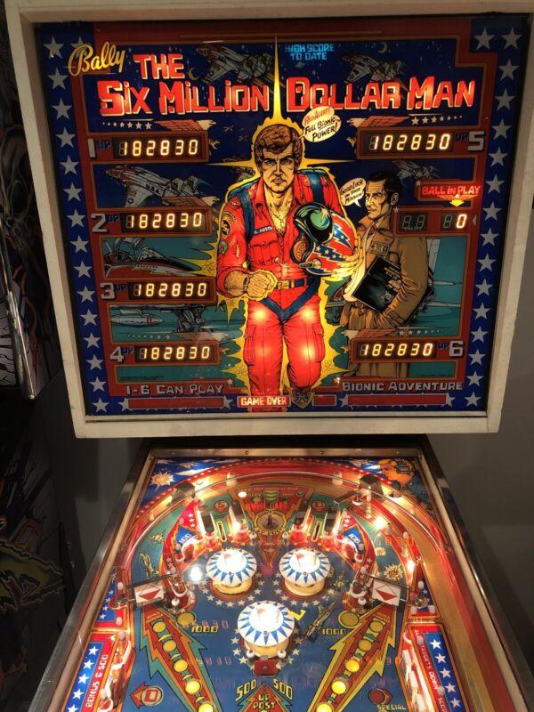 1978 Bally Six Million Dollar Man Pinball Machine Working Great With Upgrades