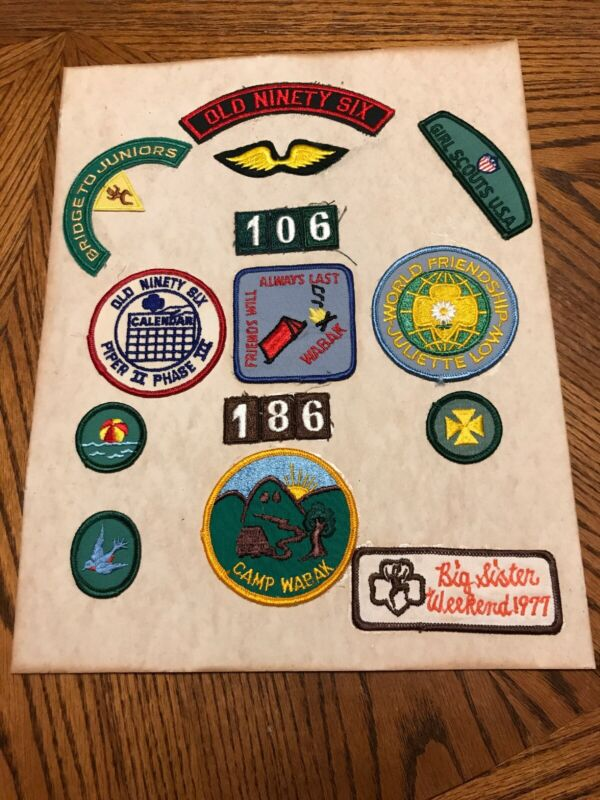 Vintage Lot of Girl Scout Badges Patches 1970s  Rare
